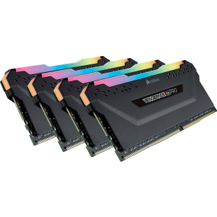 Corsair Vengeance RGB Pro 32GB Memory Kit (4 x 8GB), DDR4, 3600MHz (PC4-28800), CL18, XMP 2.0, Black