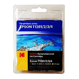 Kodak Remanufactured Epson T12815 Inkjet Ink Combo Pack 16.4ML - Black & Color