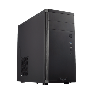 Fractal Design Core 1100 Compact Micro ATX Case, No PSU, 12cm Fan, Brushed Aluminium-look