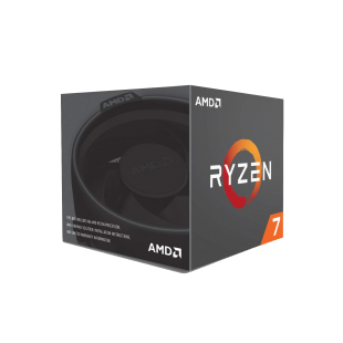 AMD Ryzen 7 2700X CPU with Wraith Cooler, AM4, 3.7GHz (4.3 Turbo), 8-Core, 105W, 20MB Cache, 12nm, RGB Lighting, No Graphics