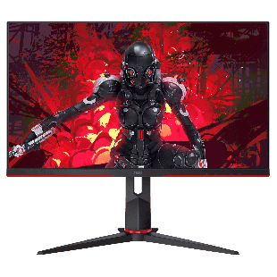 Brand New AOC 24G2U/BK 23.8-inch Widescreen IPS LED Multimedia Monitor-Black and Red (1920x1080/5ms/HDMI/DP)