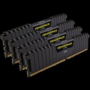 Corsair Vengeance LPX 32GB Kit (4 x 8GB), DDR4, 3200MHz (PC4-25600), CL16, XMP 2.0, DIMM Memory
