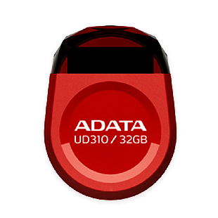 ADATA 32GB USB 2.0 UD310 Dashdrive Durable Memory Pen Micro, Rugged - Red