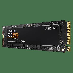 Samsung 250GB 970 EVO M.2 NVMe SSD, M.2 2280, PCI-E, V-NAND, R/W 3400/1500 MB/s