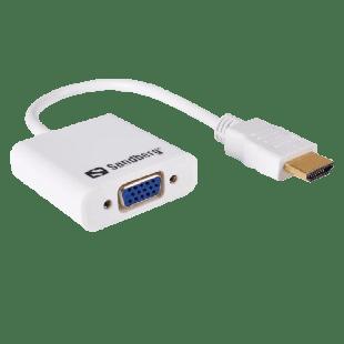 Sandberg 25CM HDMI Male to VGA Female Converter Cable - White