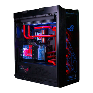 """Powered By ASUS Watercooled RGB Gaming PC/ 3XS Helios/ Intel Core i9 11900K """"Rocket Lake""""/ 32GB RAM/ 2TB SSD/ NVIDIA Ampere RTX 3090/ Windows 10 Home"""
