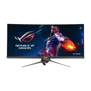 "Asus 34"" ROG Swift QHD Curved Gaming Monitor (PG348Q), 21:9, IPS, 3440 x 1440, HDMI, DP, 100Hz, G-SYNC, Lighting Effects, VESA"