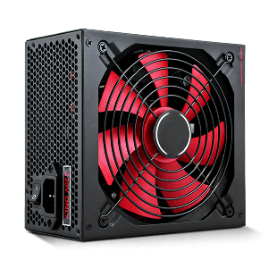ACE 650-Watts PSU, ATX 12V, Active PFC, 4 x SATA, PCIe, 120mm Silent Red Fan - Black Casing
