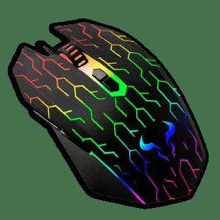 Riotoro URUZ Z5 Lightning Wired Optical Gaming Mouse - Black with RGB Lighting