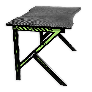 AKRacing Summit Gaming Desk Black & Green, Steel Frame, Cable Management, Gaming Mousepad Included