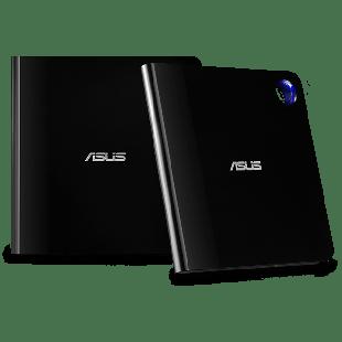 Asus (SBW-06D5H-U) Ultra-slim External Blu-Ray Writer, 6x, USB 3.1 A/C, M-DISC Support, Cyberlink Power2Go 8 - Black