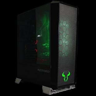 Riotoro CR1280 PRISM RGB Gaming Case with Window, E-ATX, No PSU, 2 x 12cm RGB Fans, 256-Colour RGB Controller