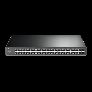 TP-Link (T1600G-52PS) 48-Port Gigabit Smart POE+ Switch, 4 SFP Slots, Rackmountable, VLAN