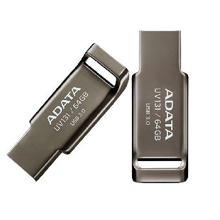 ADATA 64GB USB 3.0 Memory Pen Capless Chromium - Grey