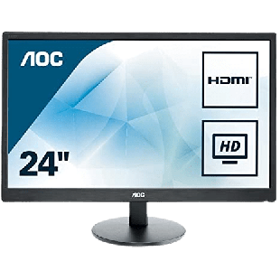 Brand New AOC e2470Swhe 23.6-inch Widescreen TN LED Monitor-Black (1920x1080/5ms/VGA/2xHDMI)