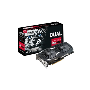Asus Radeon RX580 DUAL OC, 4GB DDR5, DVI, 2 HDMI, 2 DP, 1380MHz Clock, 0dB Tech