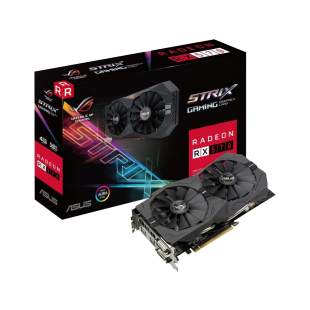 Asus Radeon ROG STRIX RX570, 4GB GDDR5, PCIe3, 2 DVI, HDMI, DP, RGB Lighting