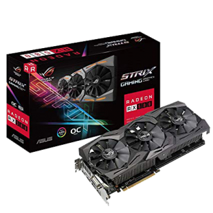 Asus Radeon ROG STRIX RX580 OC, 8GB GDDR5, DVI, 2 HDMI, 2 DP, RGB Lighting