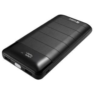 Sandberg (420-42) 20000mAh Powerbank 20000, Huge Capacity, Digital Display, 2 x USB, 5V