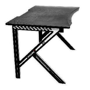 AKRacing Summit Gaming Desk, Black & White, Steel Frame, Cable Management, Gaming Mousepad Included