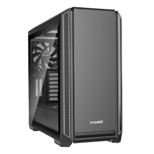 Be Quiet! Silent Base 601 Gaming Case, E-ATX, No PSU, 2 x Pure Wings 2 Fans, PSU Shroud, Silver Trim