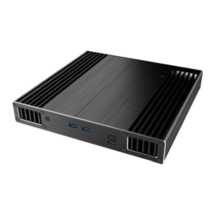 Akasa Plato X7D Low Profile NUC Case for 7th Gen Intel NUC Boards, 39mm High, Fanless,  VESA Mountable