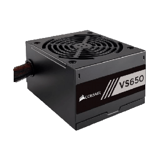 Corsair 650W Builder Series VS650 PSU, Sleeve Bearing Fan, Fully Wired, 80+ White
