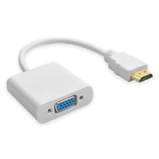 Dynamode HDMI Male to VGA Female Converter Cable - White