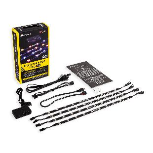 Corsair RGB Lighting Node Pro Kit, RGB Lighting Controller with 4 X Individually Addressable RGB LED Strips