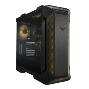 Asus TUF Gaming GT501 Gaming Case with Window, E-ATX, Tempered Smoked Glass,3  RGB Fans, Carry Handles