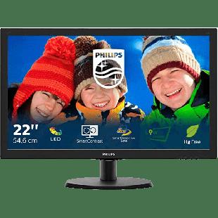 Brand New Philips 223V5LSB 21.5-inch Widescreen TN W-LED Monitor-Black (1920x1080/5ms/VGA/DVI)