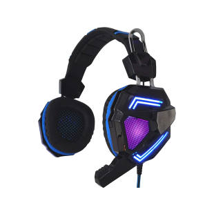 Sandberg (125-78) Cyclone Gaming Headset, 40mm Driver, Boom Mic, Multi-LED Lights.