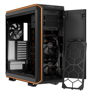 Be Quiet! Dark Base 900 Gaming Case, E-ATX, No PSU, Tool-less, 3 x Silent Wings 3 Fans, Modular Construction, Orange Trim