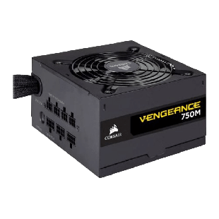 Corsair 750W Vengeance Series 750M PSU, Sleeve Bearing Fan, Semi-Modular, 80+ Silver