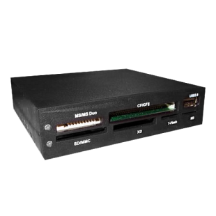 "Dynamode (USB-ALL-INT) Internal Card Reader, 3.5"", 5 Slot with USB2 Port, Black"