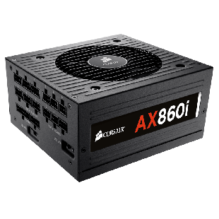 Corsair 860W Digital AX860i PSU, Dual Ball Bearing Fan, Fully Modular, 80+ Platinum