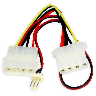 Spire 0.15-Meter 4-Pin to 3-Pin Fan Convertor Cable