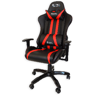 Sandberg Commander Gaming Chair, Tiltable & Height Adjustable - Black & Red