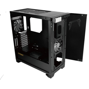 Antec P110 LUCE Gaming Case with Window, No PSU, Tempered Glass, Aluminium Front, RGB LED Logo, HDMI Port