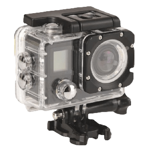 Sandberg (430-00) 4K 170 Degree Action Camera, Waterproof Case, Wi-Fi, Mounting Kit, LCD Screen, 5 Year Warranty