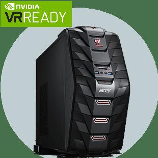 Refurb - CK Acer Predator G6-710/Intel Core i7-7700K/16GB RAM/256GB SSD+2TB HDD/GTX 1080/BR-RW/Win 10/B