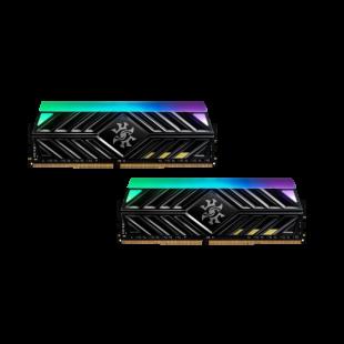 ADATA XPG Spectrix D41 RGB LED 16GB Kit (2 x 8GB), DDR4, 2666MHz (PC4-28800), CL16, XMP 2.0, DIMM Memory, Tungsten Grey