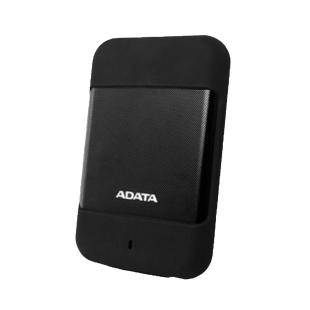 "ADATA 1TB HD700 Rugged External Hard Drive, 2.5"", USB 3.0, IP56 Water/Dust Proof, Shock Proof, Black"