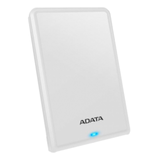 "ADATA 1TB HV620S Slim External Hard Drive, 2.5"", USB 3.1, 11.5mm Thick, White"