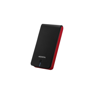 ADATA AP20100 20100mAh Powerbank, 2 x USB, LED Flashlight, Black & Red