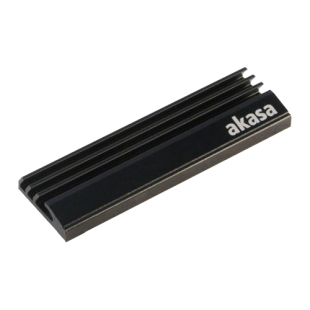 Akasa Passive Cooler for M.2 2280 SSDs, Aluminium Heatsink, Black