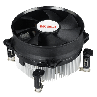 Akasa AK-959CU, 775, 1150, 1151, 1155, 1156, Sockets PWM Heatsink and Fan - Black