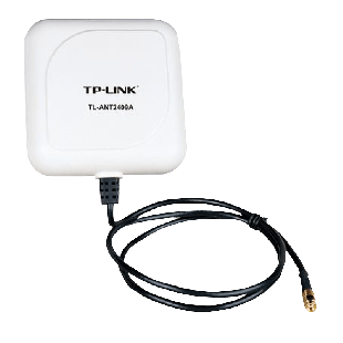 TP-Link 2.4GHz, 9DBi Outdoor Directional Panel Antenna, RP-SMA Connector - White