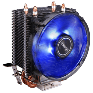 Antec A30, Intel & AMD Sockets, Whisper-Quiet 9.2CM, Rifle Bearing Heatsink & Fan -  Black with a Blue LED