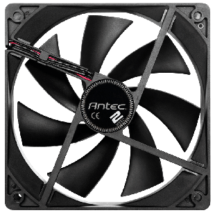 Antec TwoCool 12CM Case Fan, Dual Speed, 3-Pin with 4-Pin Adapter - Black